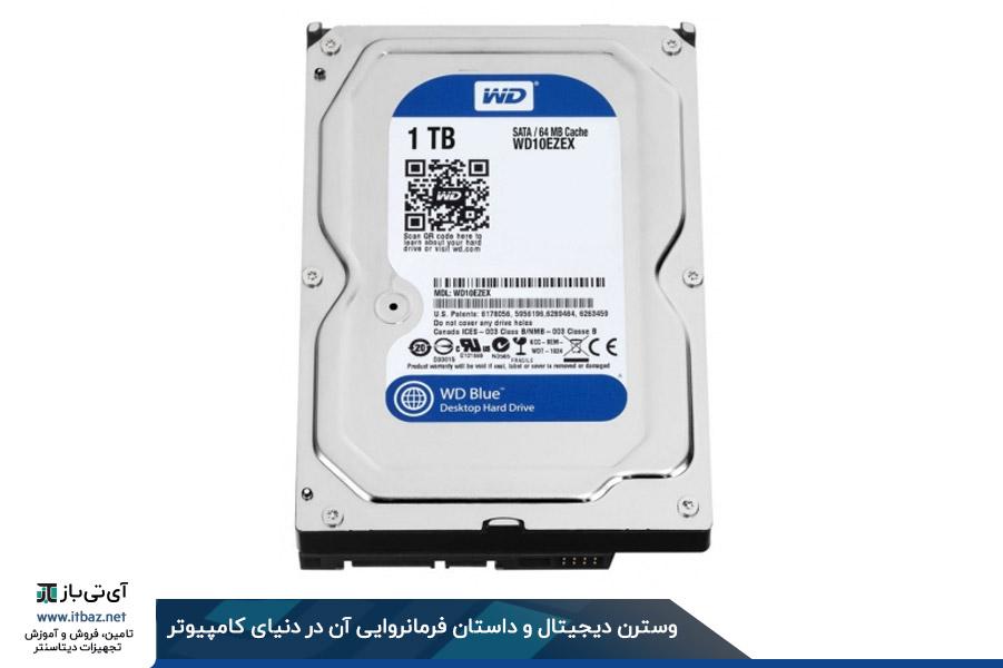 هارد دیسک اینترنال وسترن دیجیتال GREEN ظرفیت 1 ترابایت