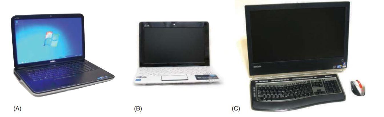 تصویر از یک لپ تاپ، نوت بوک و کامپیوتر همه کاره