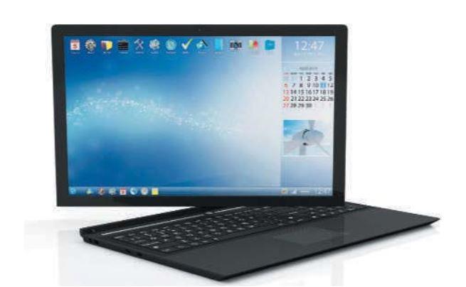 یک لپ تاپ با صفحه کلید جدا شونده