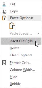 وارد کردن یک ستون در نرم افزار اکسل