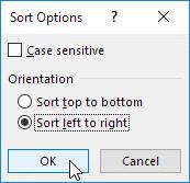 Sort Options