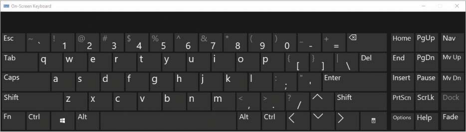 صفحه کلید on screen ویندوز 10